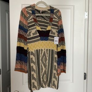 Patterned Free People sweater new with tags